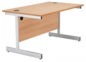 straight office desk