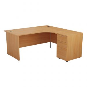 JM Office one panel leg desk radial