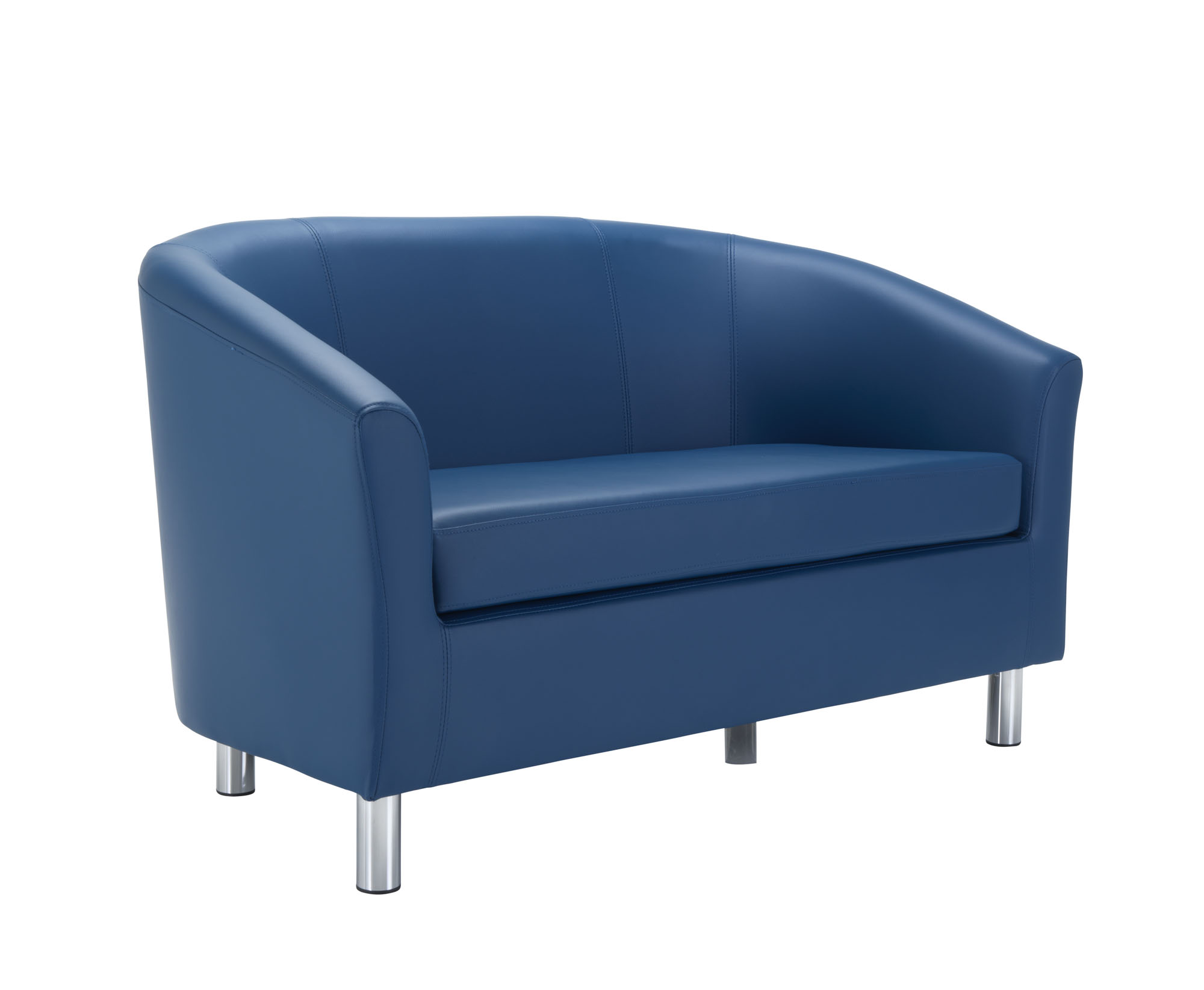 JM Office twin tub blue PU couch