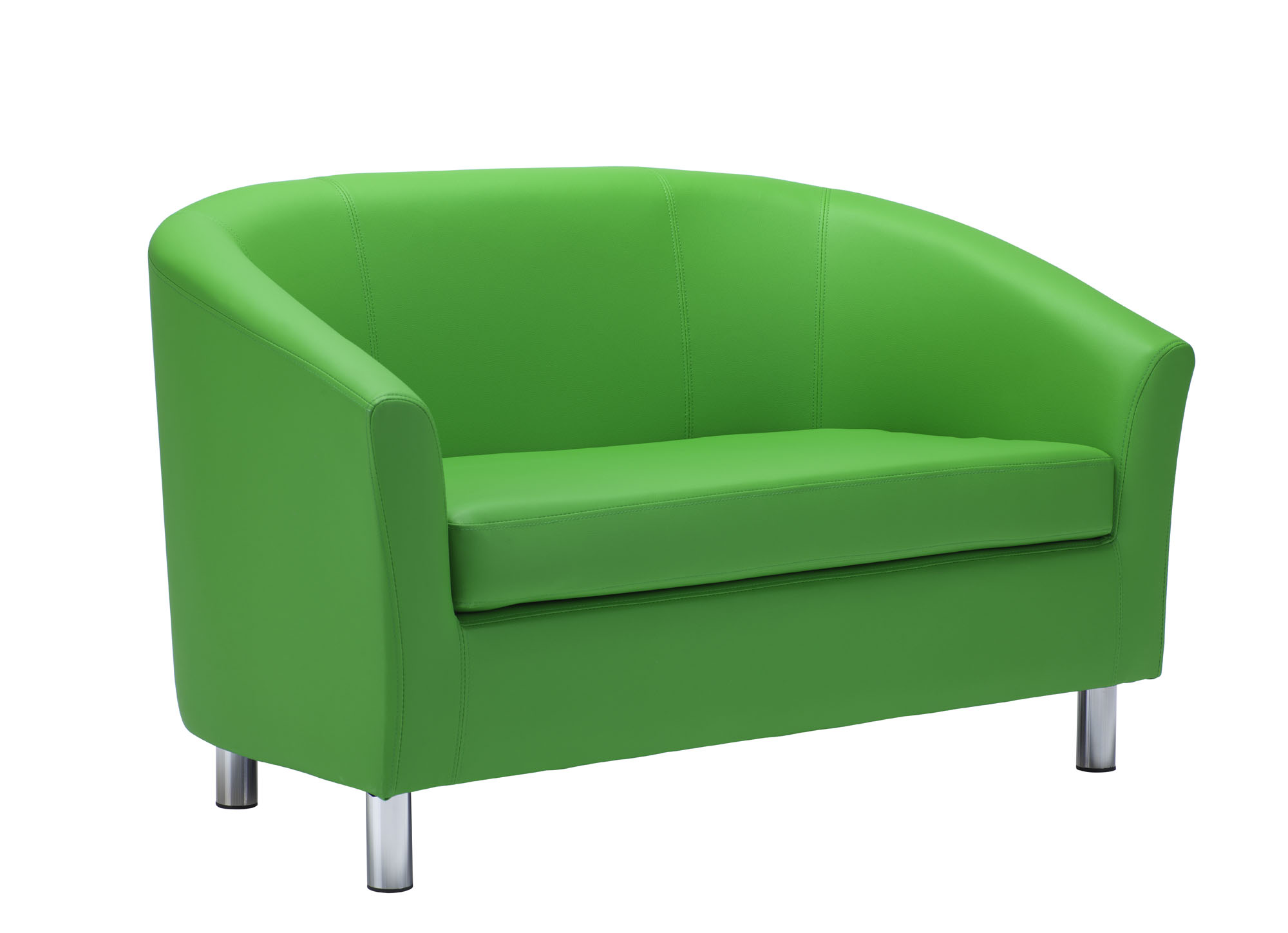 JM Office twin tub green PU couch