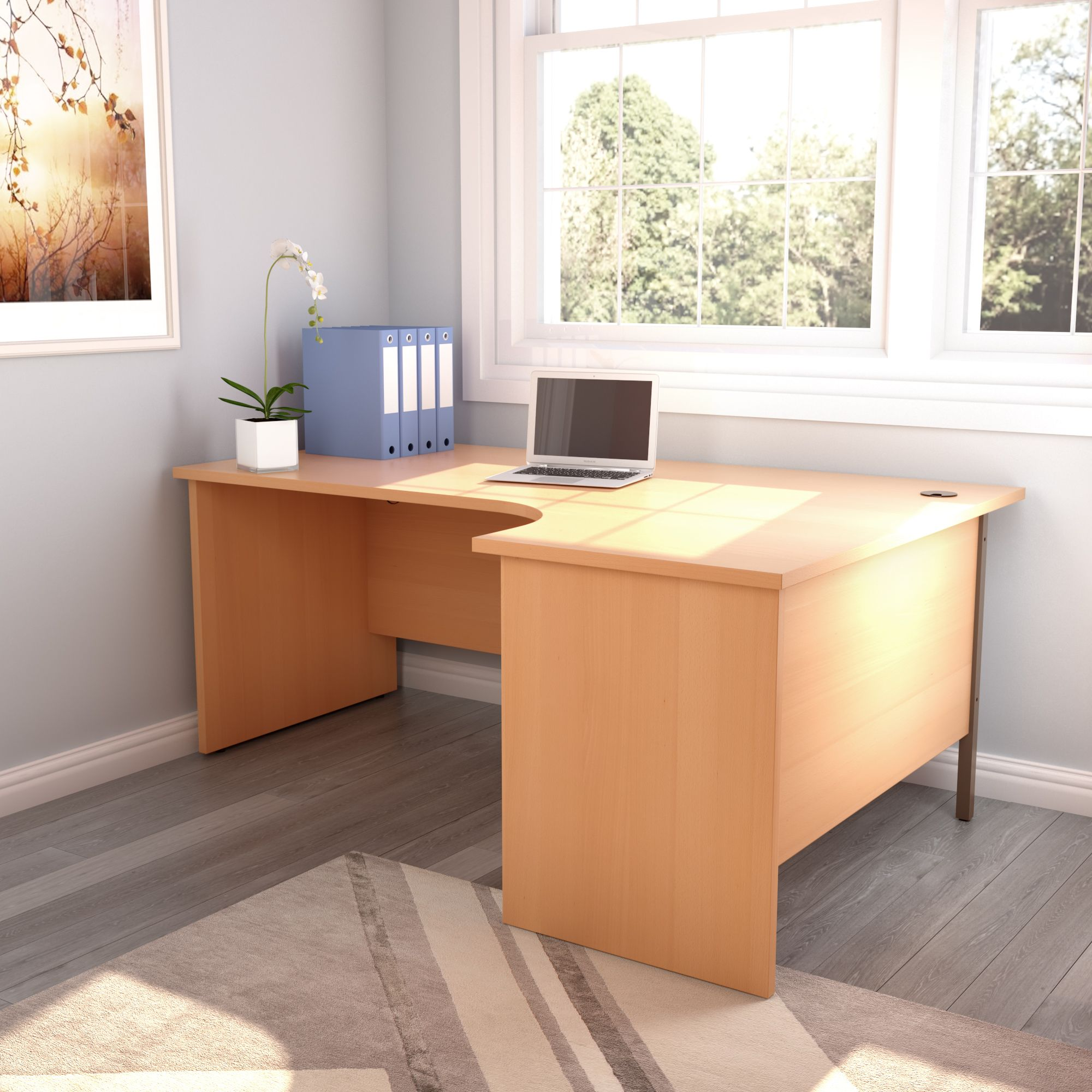 Radial home office desk